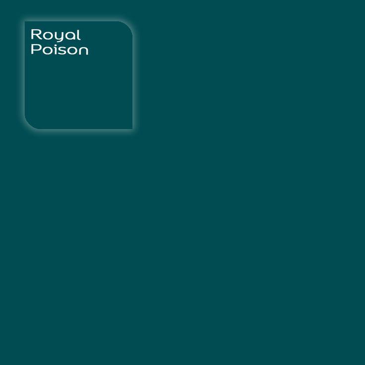 Flexa Creations kleur: Royal Poison. Klik op de foto om een kleurstaal te bestellen.