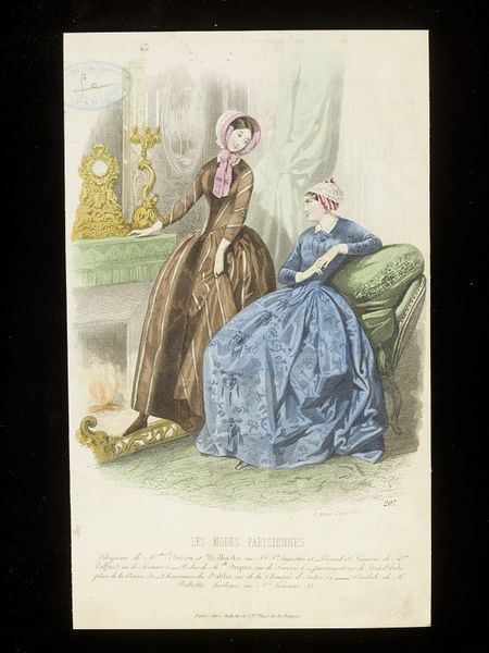 Fashion plate, mid 1840s | Montaut d'Oleron, Gabriel Xavier | V&A Search the Collections