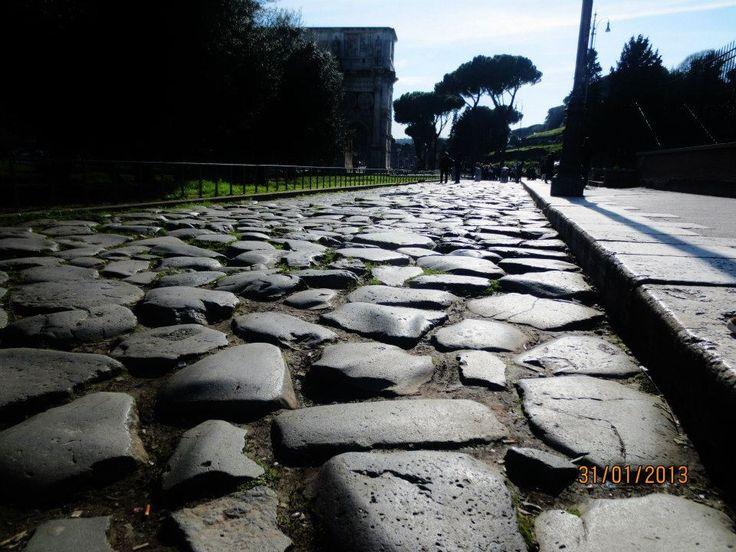 Cobbled street, Rome