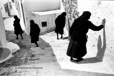 François Le Diascorn. Four widows in Patmos island Greece