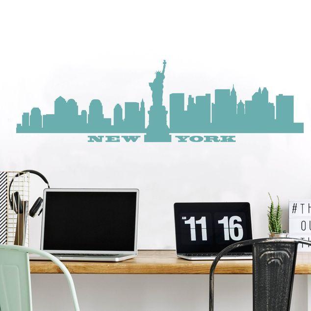 Adesivi Murali Skyline New York.Adesivo Murale No Sf490 New York Skyline Nel 2020 Adesivi Murali