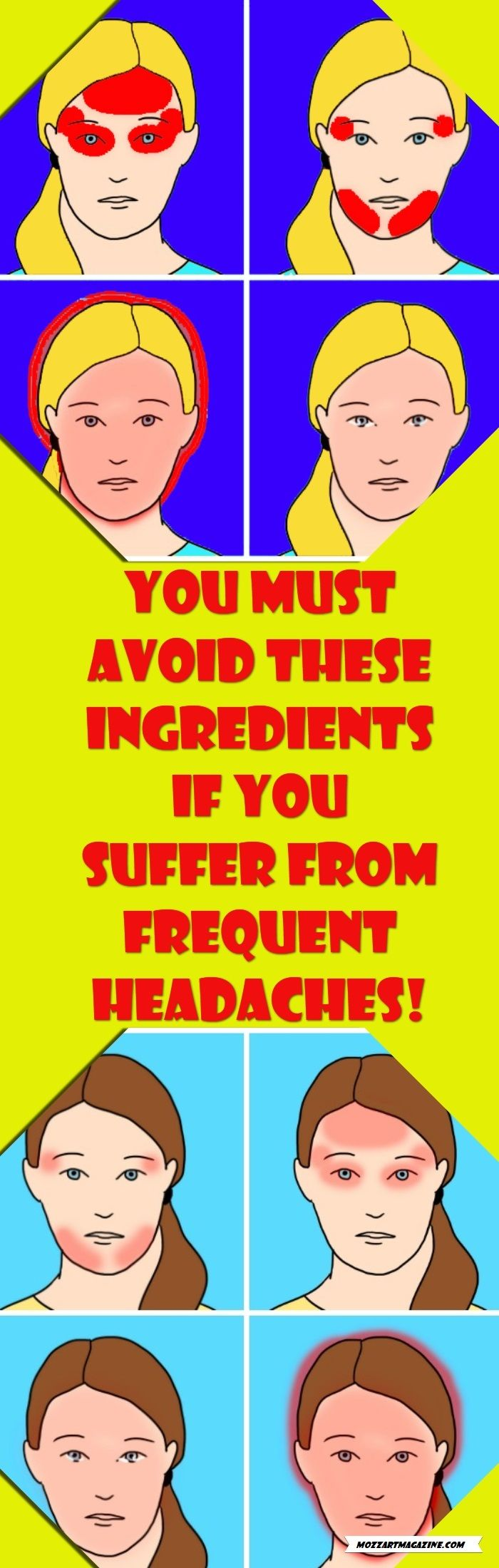 YOU MUST AVOID THESE INGREDIENTS IF YOU SUFFER FROM FREQUENT HEADACHES!