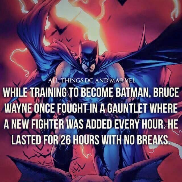 This would only be a test of his tolerance for boredom.  Most folks wouldn't last 1:1 with Bruce for more than 10-15 seconds.  So it's basically a 59 minute 45 second wait for the next fighter...