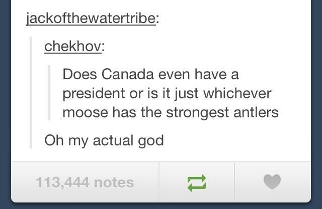 Canadian Problems! just died.