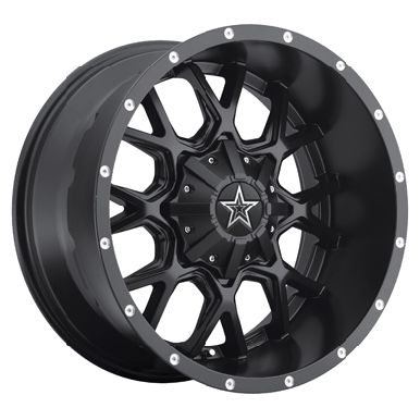 Dropstars 645B 20x9 Black Truck Wheels