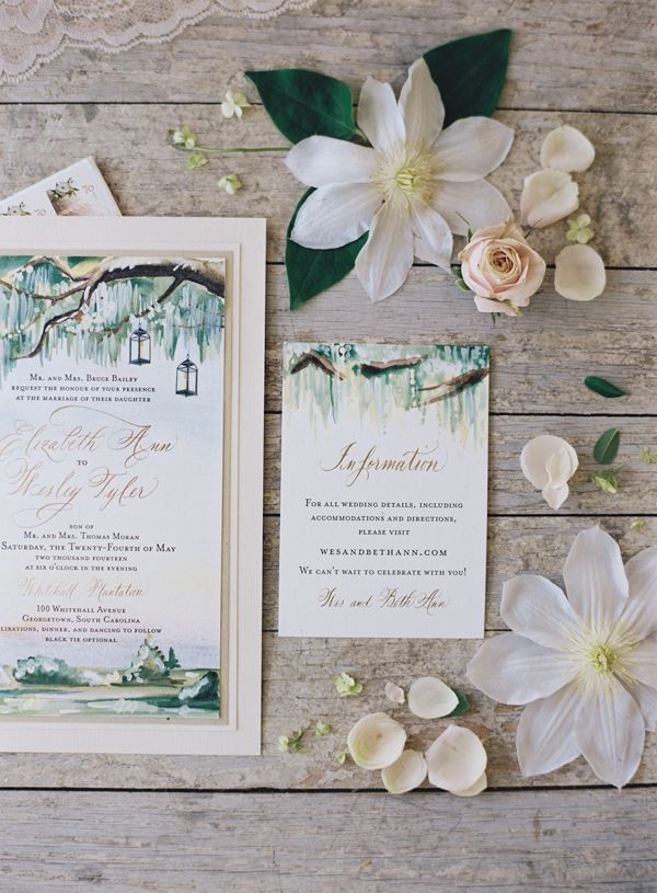 painted wedding invitation   Tec Petaja