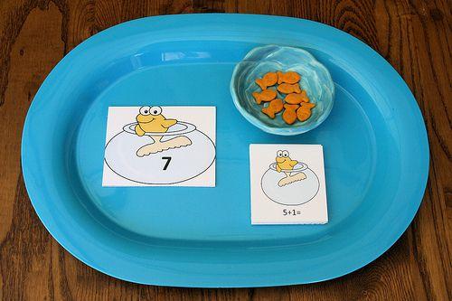 Montessori-Inspired One Fish, Two Fish Math Activities at PreK + K Sharing