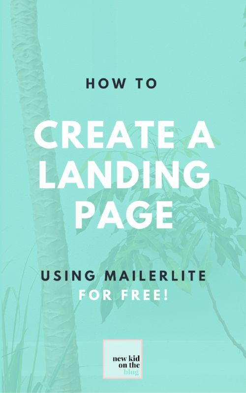 If you'd like to give MailerLite a trial run, I created this video tutorial for how to create a simple but beautiful landing page for growing your email list.