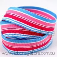 snow cone striped grosgrain (23mm wide) [per metre] - $1.60 : Ribbons Galore, your online store for the best ribbons #ribbons #ribbonsgalore #stripedgrosgrain