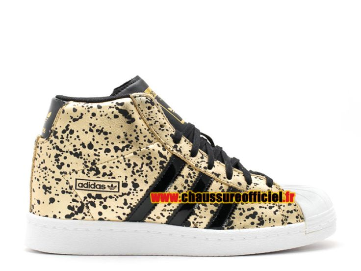 Adidas Superstar UP W Chaussures Adidas Pas Cher Pour Homme Noir / Jaune m19507