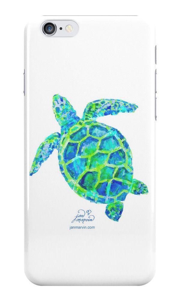 Sea Turtle green & blue by Jan Marvin by Jan Marvin