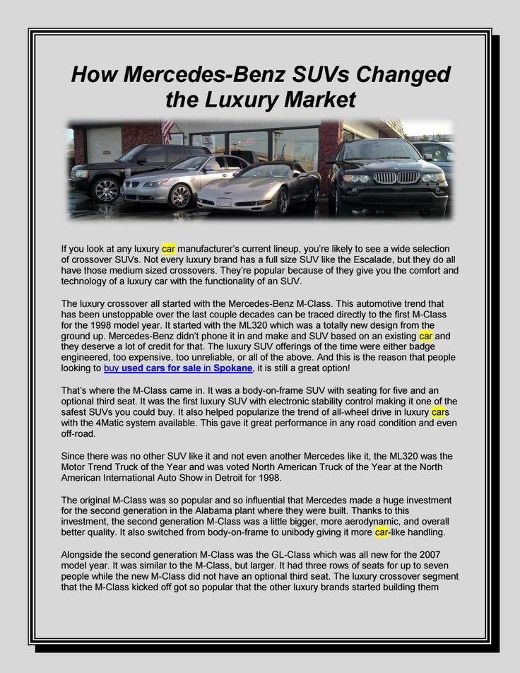 How MercedesBenz SUVs Changed the Luxury Market