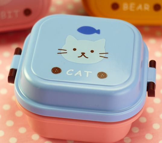 Children's Lunch Box Cartoon double layers box microwave lunch box snack environmental protection