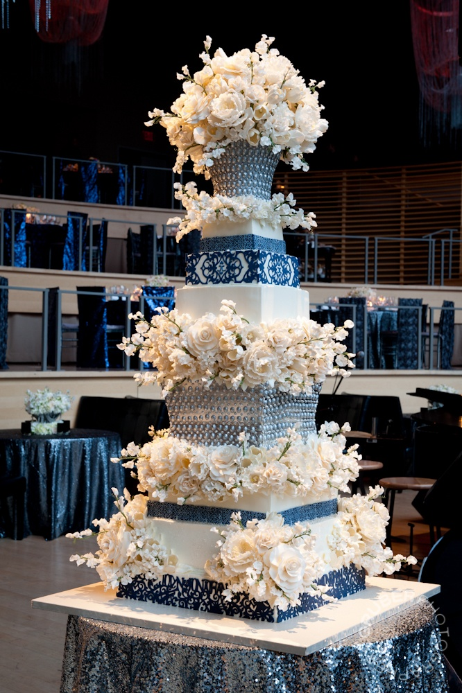 This Beautiful Sylvia Weinstock Creation In Shades Of Blue And Silver Was Perfect For Modern Cake WeddingBeautiful Wedding CakesWedding