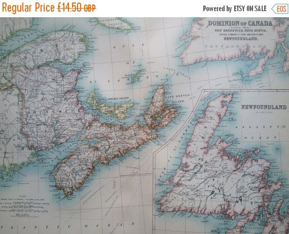 12 best canada maps images on pinterest antique maps old maps and 1907 canada original antique map newfoundland new brunswick nova scotia cartography historical map wall decor home decor gumiabroncs Gallery