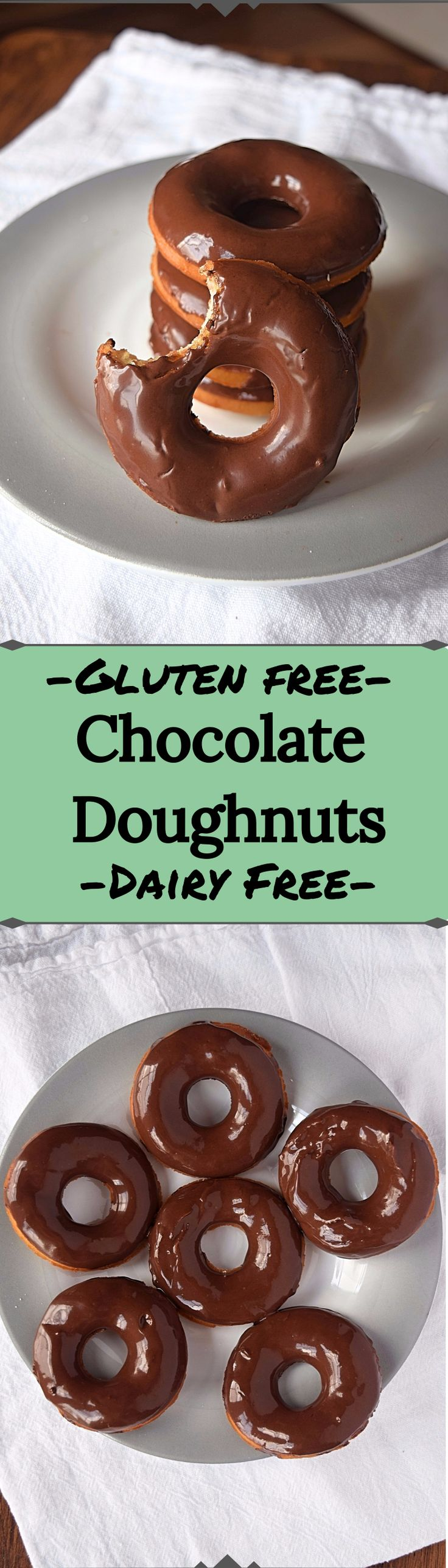 Gluten free Chocolate Doughnuts are everything you've been craving. Pillowy soft, yeasty, and topped with chocolate. This recipe is also dairy free for those on a further restricted diet. Treat yo' self, eat a doughnut.
