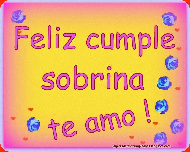 *¨*Feliz cumpleaños Sobrina*¨*