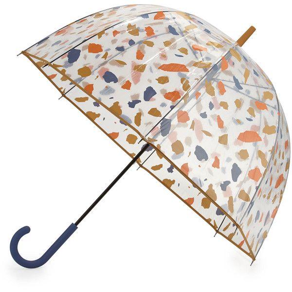 Hunter Boot Original Terrazzo Print Bubble Umbrella found on Polyvore featuring home, outdoors, patio umbrellas, outdoor patio umbrellas, outdoor umbrella, white patio umbrella and flower stem