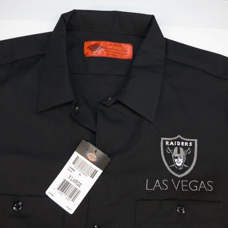 NEW LAS VEGAS RAIDERS FOOTBALL DICKIES Embroidered WORK SHIRT all sizes  Oakland #Dickies #GraphicTee