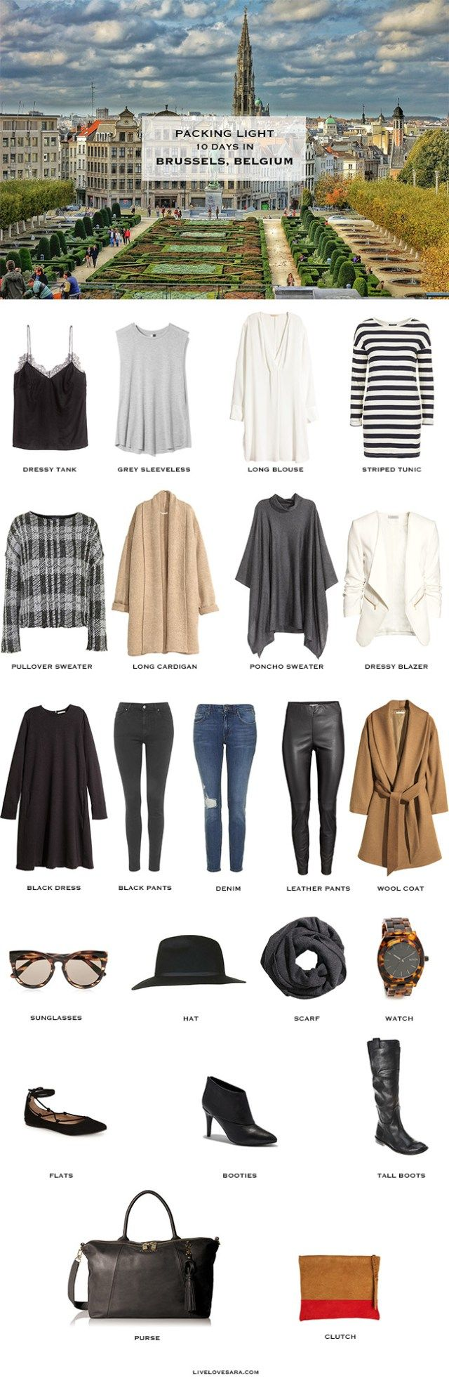 Brussels Belgium Packing List + outfit options here http://livelovesara.com/2015/10/what-to-wear-for-brussels-belgium/?relatedposts_hit=1&relatedposts_origin=1793&relatedposts_position=0