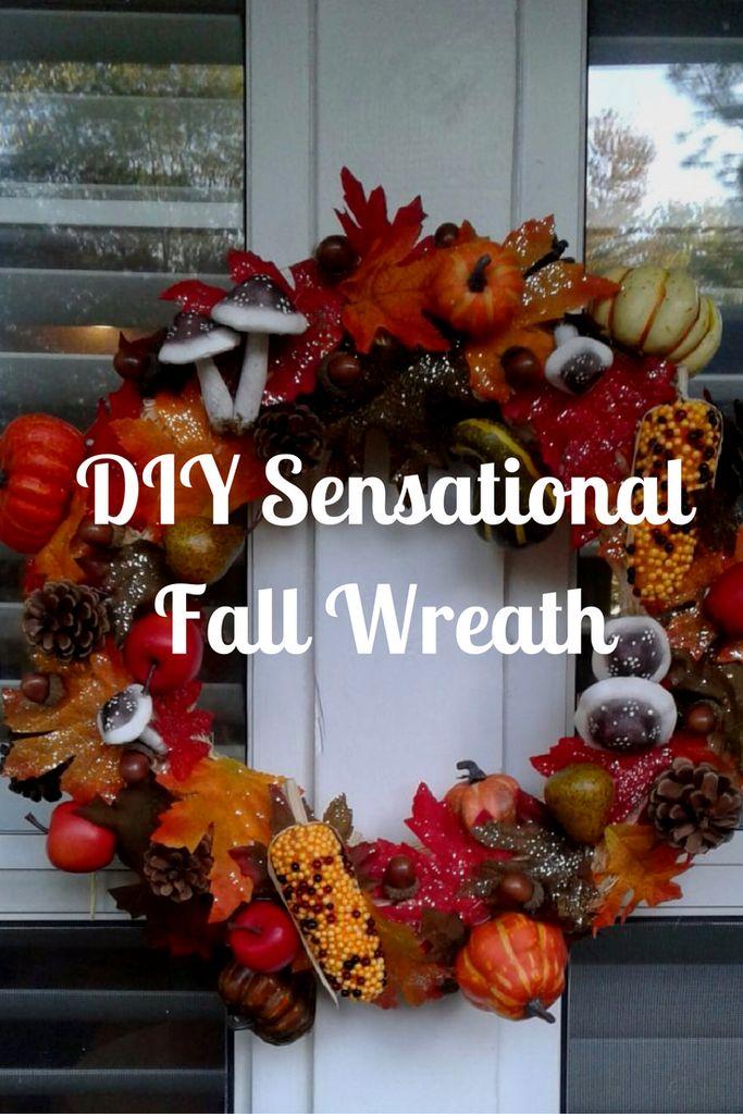 DIY Sensational Fall Wreath :http://www.mommaandthepea.com/diy-sensational-fall-wreath/