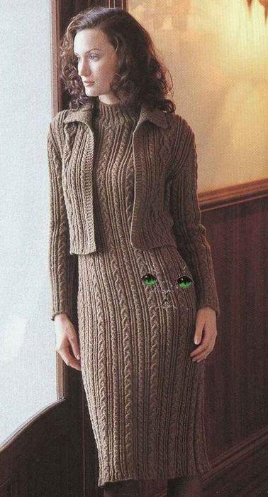 Тёплое платье аранами с жакетиком. Обсуждение на LiveInternet - Российский Сервис Онлайн-Дневников