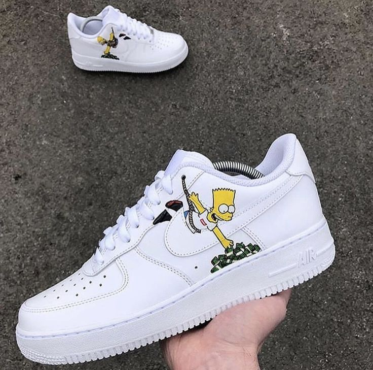 Custom Simpson Nike Airforce 1 | Sneakers men fashion