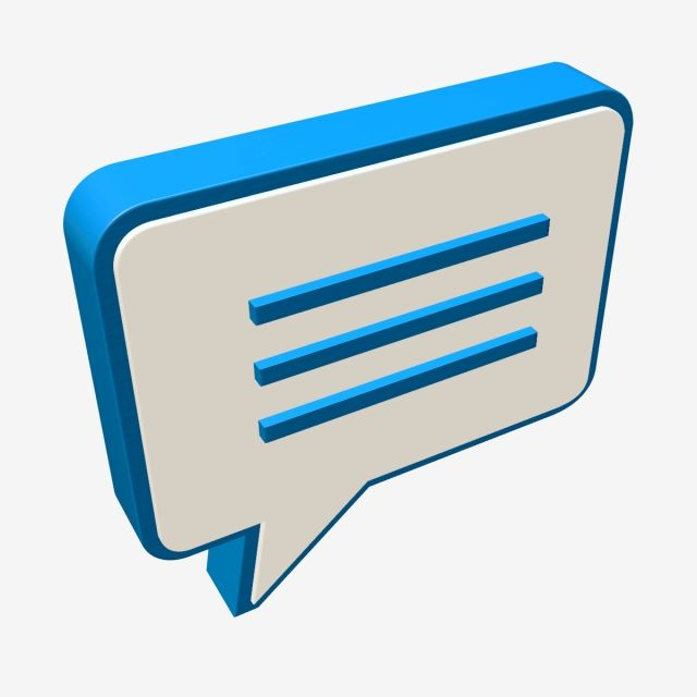 3d Message Icon Blue 3dlogo Chat Pesan Social Media Icons Vector Web Icons Messages