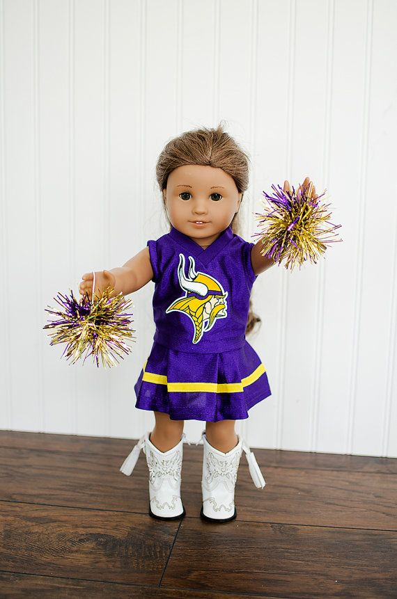 American Girl Doll NFL Viking football by janscraftroom on Etsy, $32.00