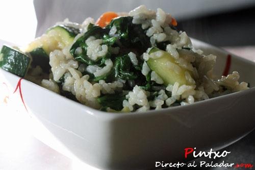 Arroz con espinacas: Recetas Verdura