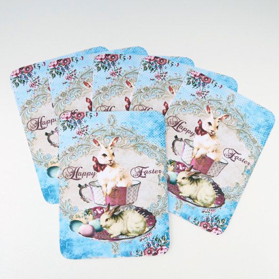 Easter Note Cards Blank Note cards Vintage by EnchantedQuilling