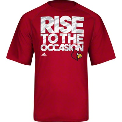 Louisville Cardinals adidas Impact Basketball On-Court Camo Climalite Shooting T-Shirt - Heathered Red