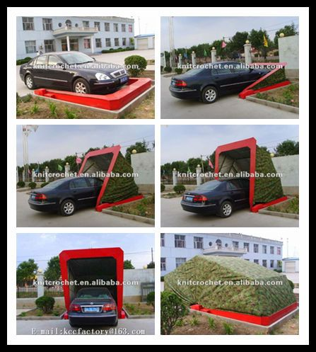 Horizontal Automatic Car Shelter, Portable Outdoor Car ...