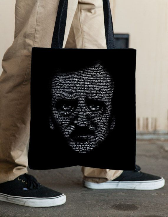 Nevermore  Edgar Allan Poe Raven Tote by Vincent Carrozza