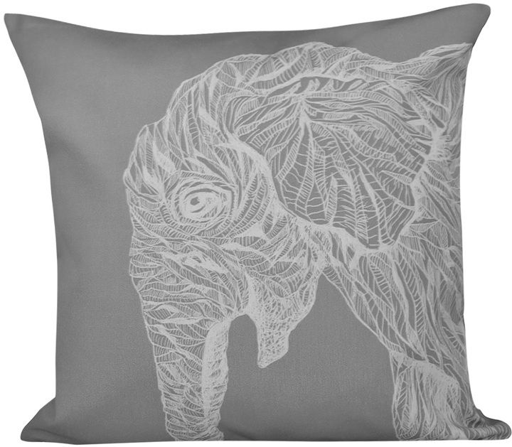 e by design El Elefante Animal Print Pillow