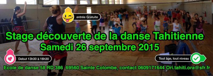 Bonne sortie | Stage gratuit de découverte de la danse polynésienne - Sainte colombe (Rhône)
