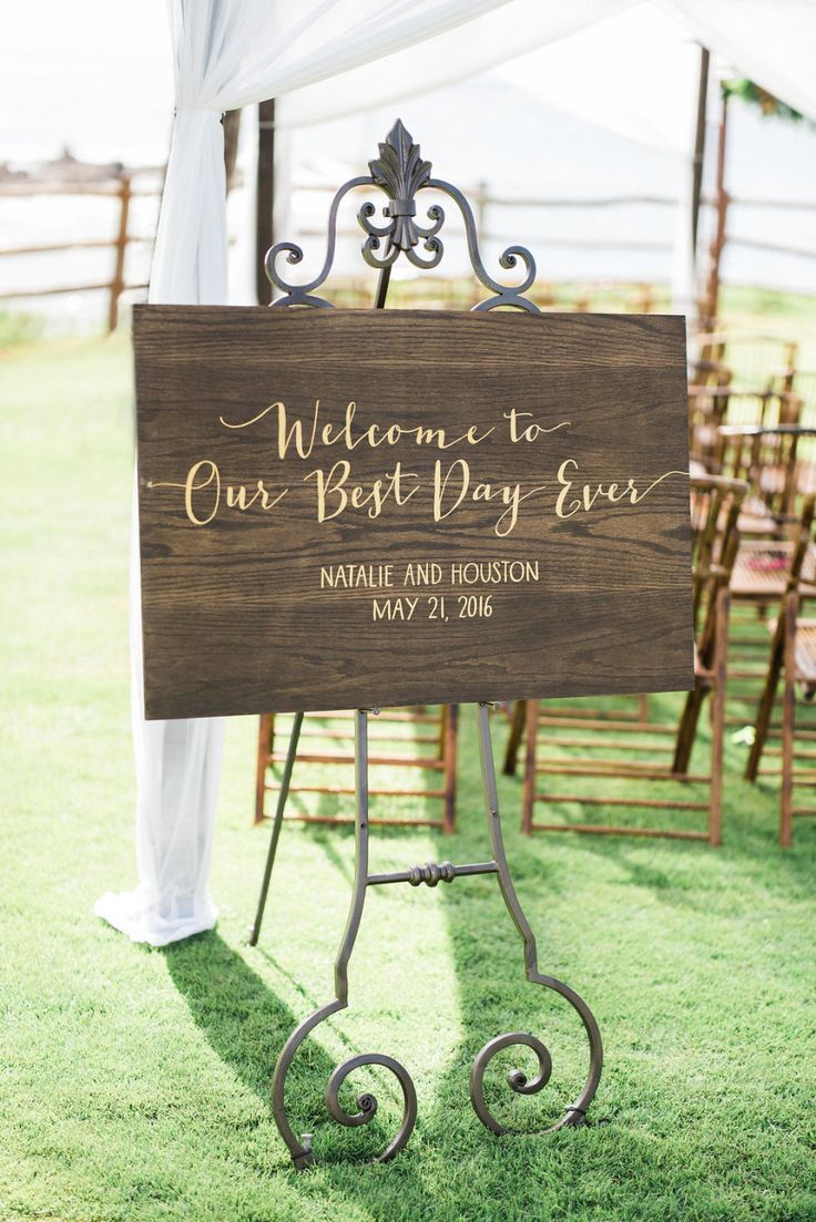 25 Best Ideas About Wood Wedding Signs On Pinterest