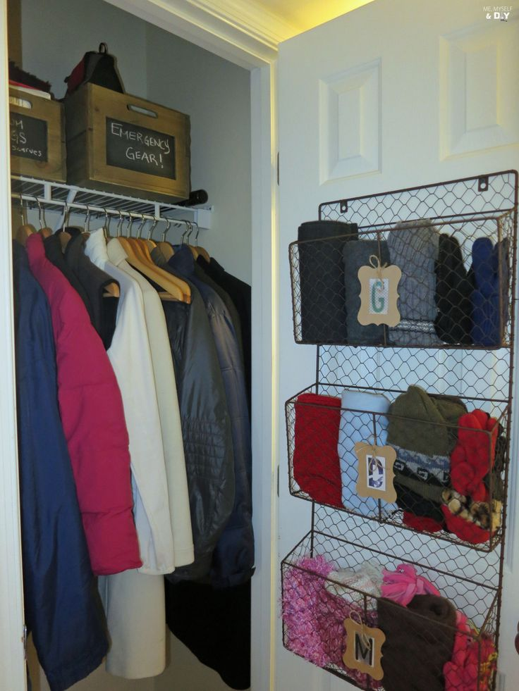 Hallway Coat Closet Makeover