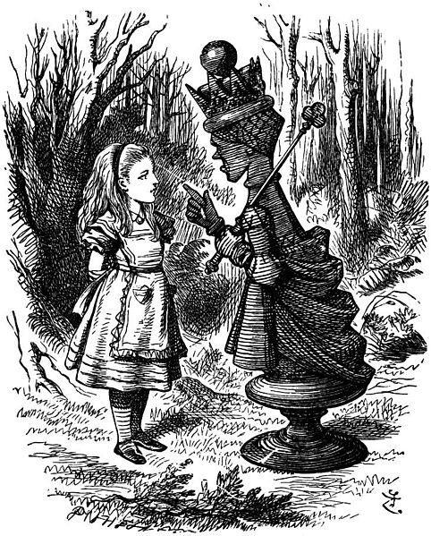 John Tenniel red queen with alice