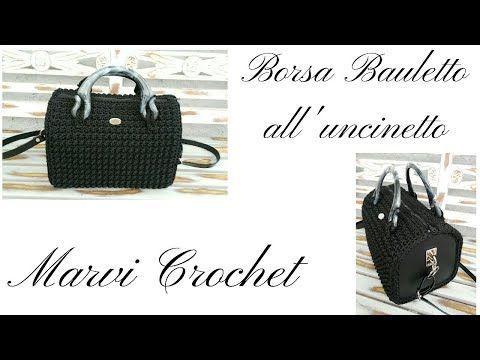Tutorial Borsa Bauletto All Uncinetto Crochet Bag Youtube