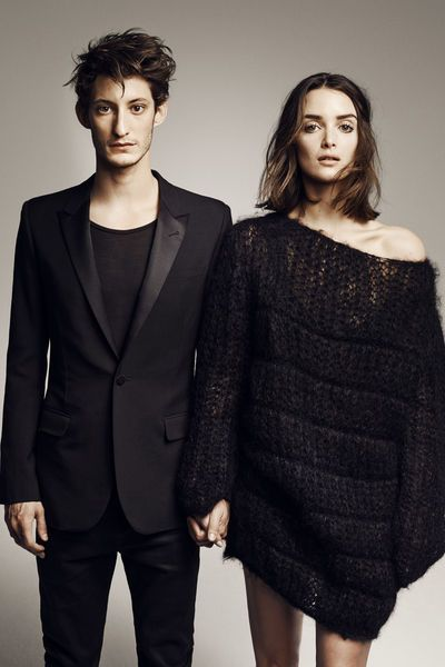 Charlotte Le Bon et Pierre Niney posent pour L'Express Styles