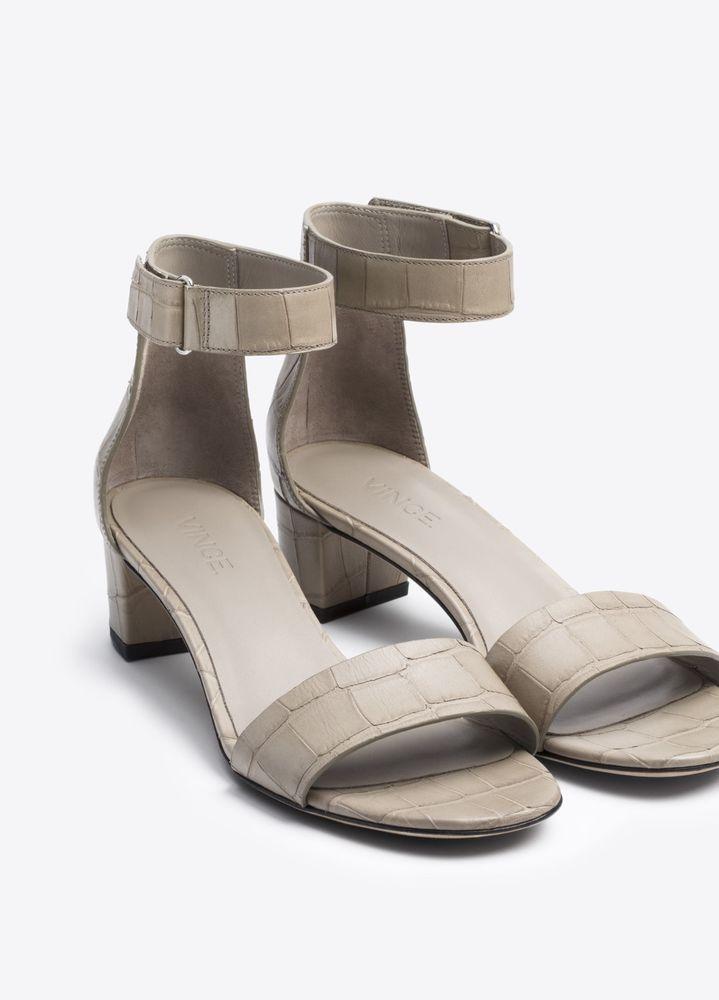 214e107972d Vince Rita Gray Leather Sandal Size 7 (Retail  295)  VinceCamuto  Sandals   Casual