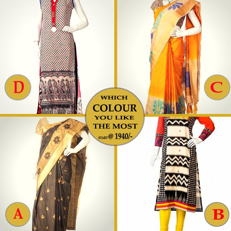 Which colour you like the most Start at Rs.1940/-  Plz visit - www.evaapparels.com