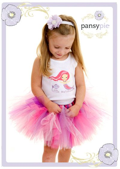 Little Mermaid Tutu Dress Baby Tutu Outfits Toddler Mermaid Costume 9 12 18 24 Months