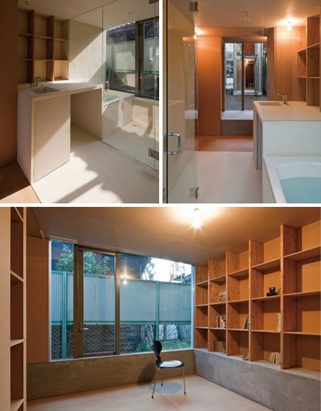 slim little house interior