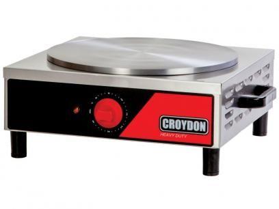 Panquequeira Simples Inox - Croydon Quente Elétrica MPES-2 com as melhores condições você encontra no Magazine Sensibilidade. Confira!