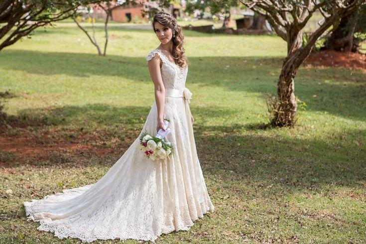 Vestido para casamento ao ar livre