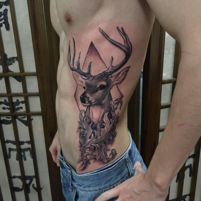 140 Most Attractive Deer Tattoo Designs And Meanings cool  Check more at http://fabulousdesign.net/deer-tattoos-meanings/