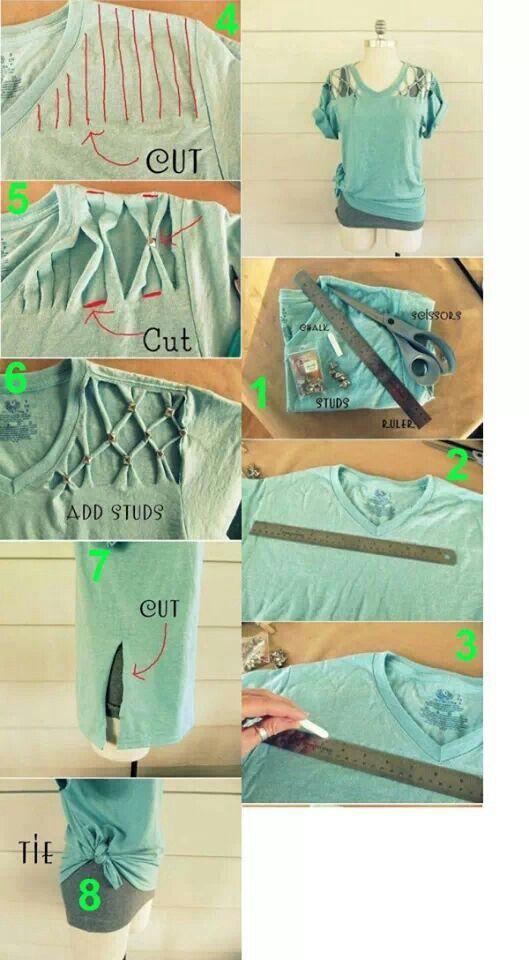 Reusing old Shirts   ecogreenlove