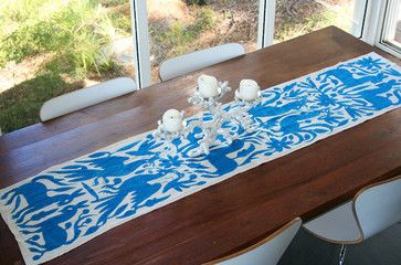 Otomi Hand-Embroidered Table Runner eclectic-tablecloths